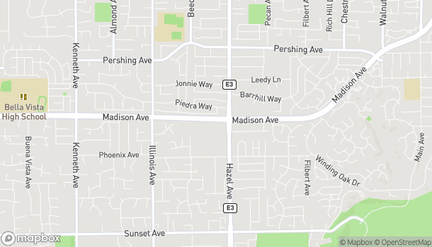 Map of 8888 Madison Avenue in Fair Oaks
