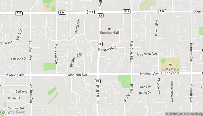 Map of 5550 Sunrise Blvd in Citrus Heights