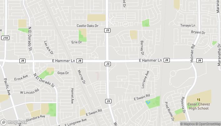 Mapa de 7860 W Lane en Stockton