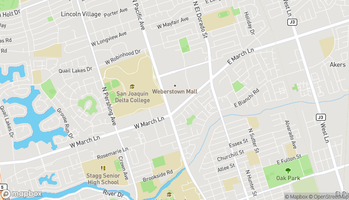 Map of 4950 Pacific Ave in Stockton