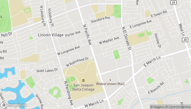 Map of 5756 Pacific Ave in Stockton