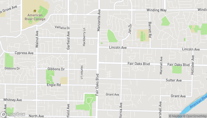 Mapa de 4024 Manzanita Ave en Carmichael