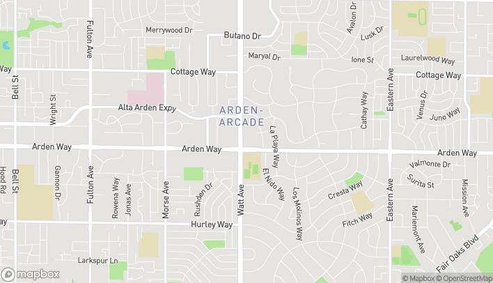 Mapa de 3521 Arden Way en Sacramento