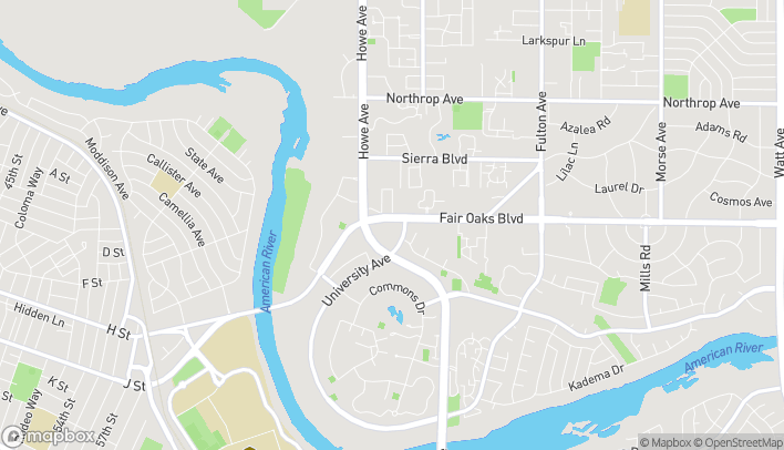 Map of 2244 Fair Oaks Blvd in Sacramento