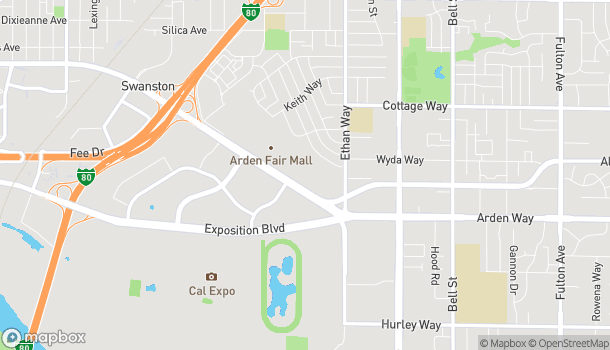 Map of 1743 Arden Way in Sacramento