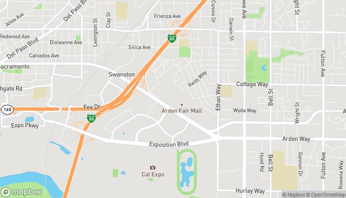 Map of 1689 Arden Way in Sacramento