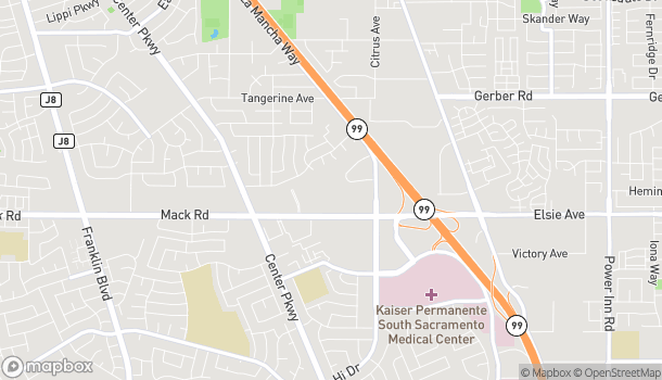 Mapa de 6051 Mack Road en Sacramento