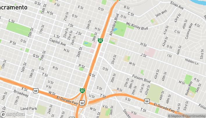 Mapa de 3100 Folsom Blvd en Sacramento