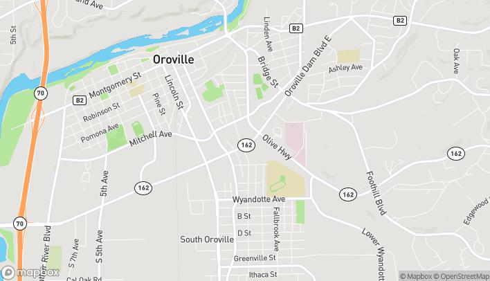 Mapa de 2470 East Oro Dam Blvd en Oroville