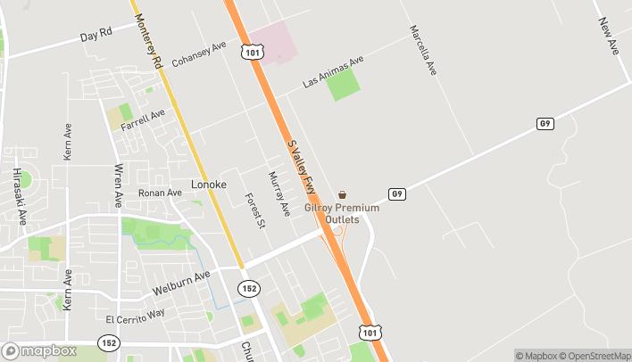 Mapa de 8647 San Ysidro Ave en Gilroy