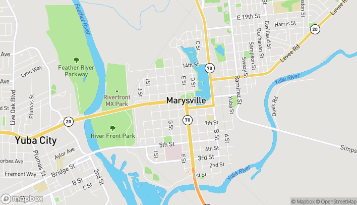 Map of 908 E Street in Marysville