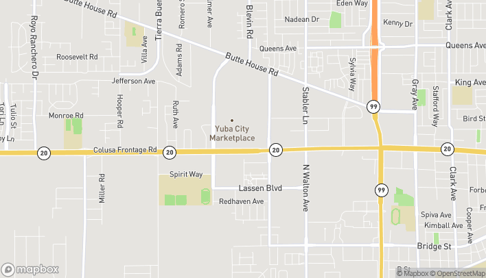 Map of 1054 Harter Rd in Yuba City