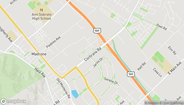 Map of 755 Cochrane Rd in Morgan Hill