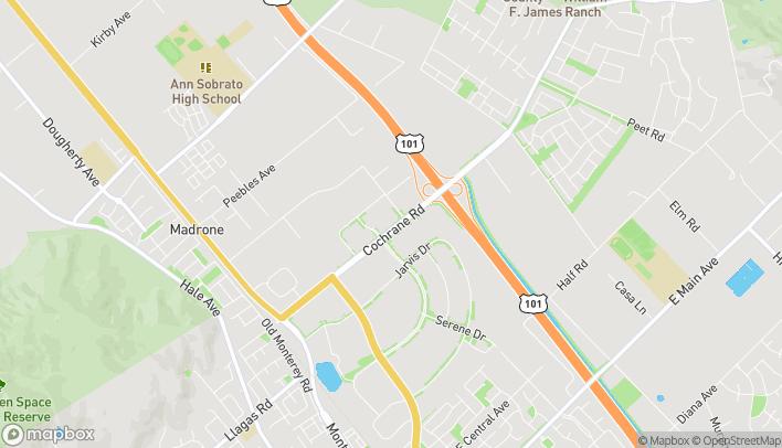 Mapa de 755 Cochrane Rd en Morgan Hill