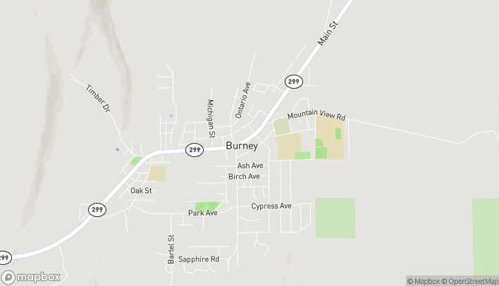 Map of 37227 Main Street in Burney