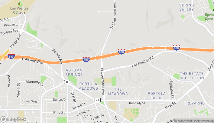 Map of 2452 Las Positas Rd in Livermore