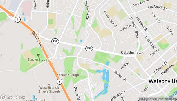 Map of 1439 Main Street in Watsonville