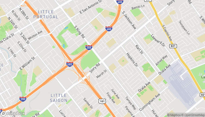 Map of 1705 Story Rd in San Jose