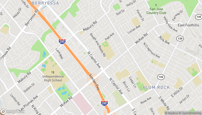 Map of 436 N Capitol Ave in San Jose