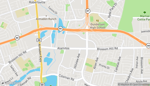 Map of 925 Blossom Hill Rd in San Jose