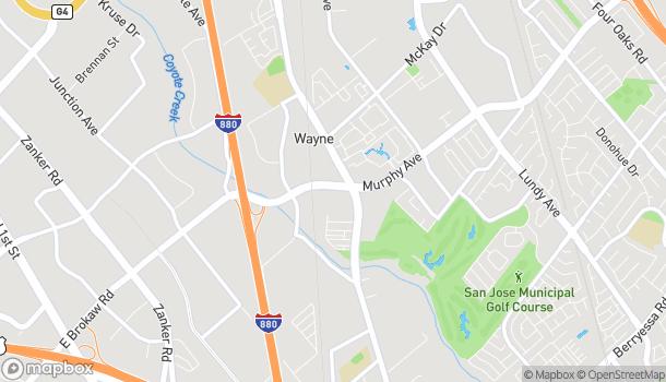 Map of 1068 E Brokaw Rd in San Jose