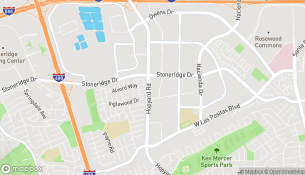 Mapa de 4747 Hopyard Rd en Pleasanton
