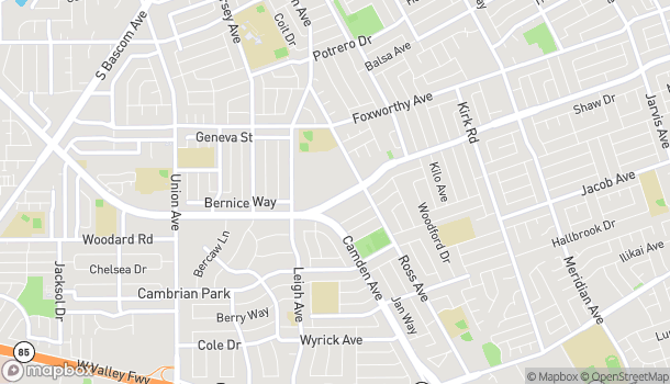 Map of 1815 Hillsdale Ave in San Jose