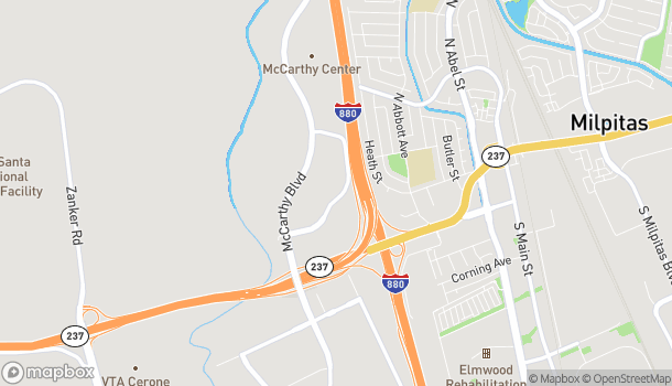Map of 185 Ranch Dr in Milpitas