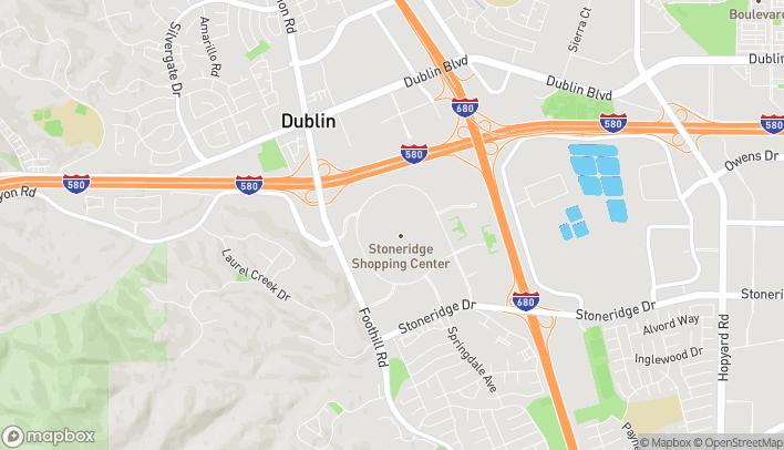 Map of 1452 Stoneridge Mall Rd in Pleasanton