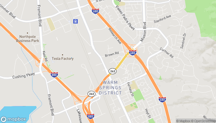 Map of 46228 Warm Springs Blvd in Fremont
