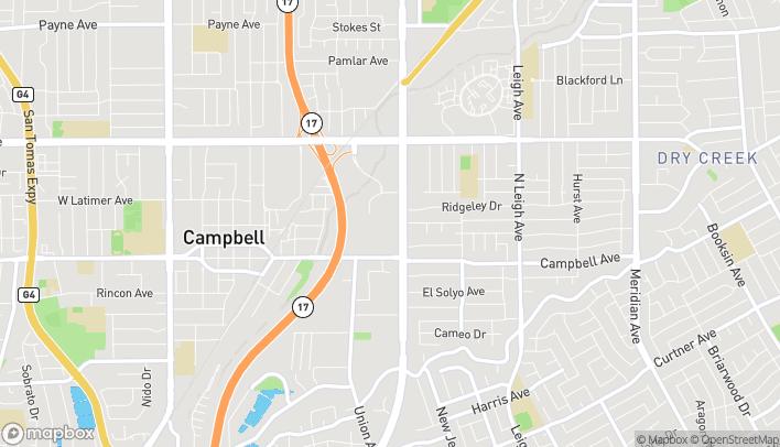Mapa de 1875 S Bascom Ave en Campbell