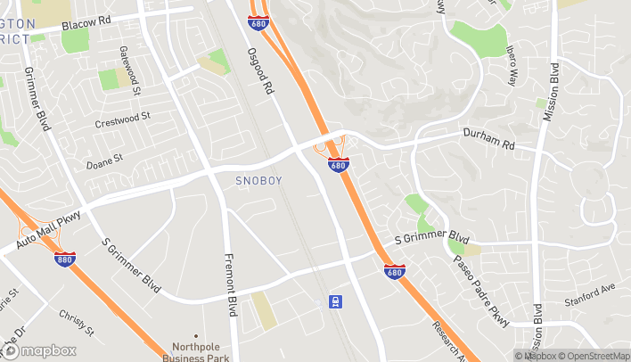 Mapa de 44029 Osgood Road en Fremont