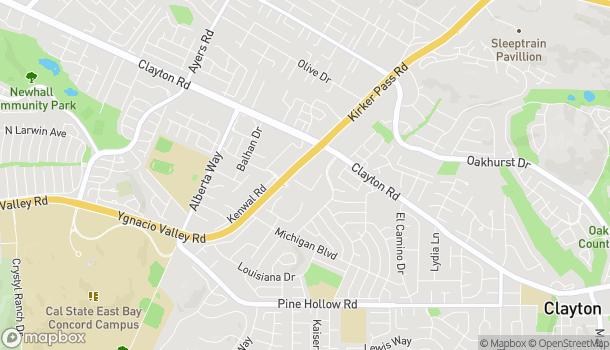 Mapa de 5434 Ygnacio Valley Rd en Concord