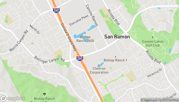 Map of 134 Sunset Dr in San Ramon