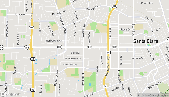 Map of 2794 El Camino Real in Santa Clara