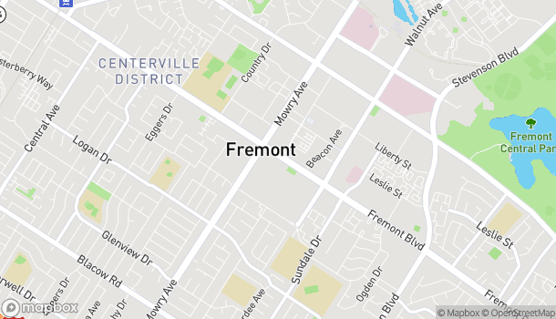 Map of 39121 Fremont Blvd in Fremont