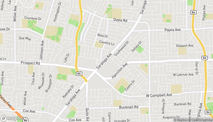 Map of 1546 Saratoga Ave in San Jose