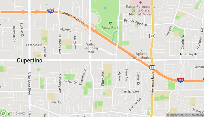 Map of 19479 Stevens Creek Blvd in Cupertino