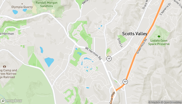 Map of 243 Mt. Hermon Road in Scotts Valley
