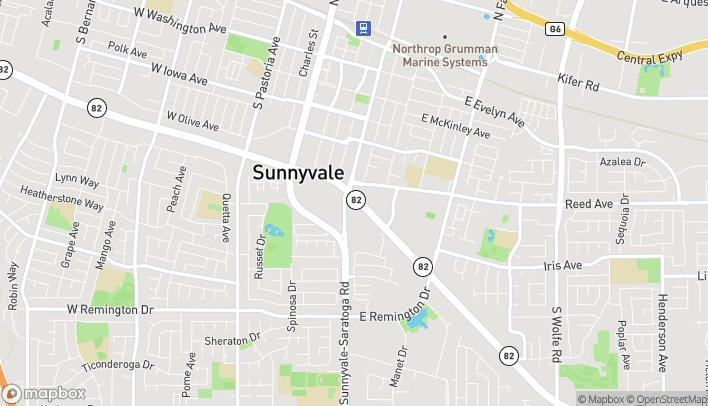 Map of 124 E El Camino Real in Sunnyvale
