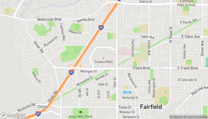 Mapa de 1350 Travis Blvd en Fairfield