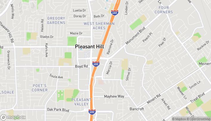Mapa de 2390 Monument Blvd en Pleasant Hill