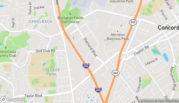 Mapa de 2015 Diamond Blvd en Concord