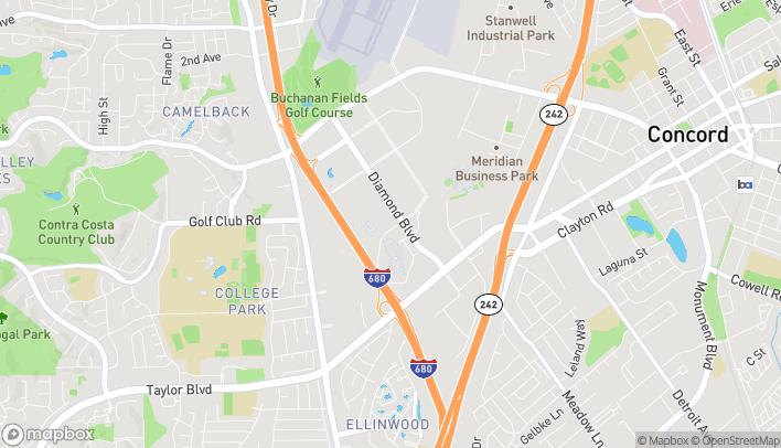 Map of 2015 Diamond Blvd in Concord