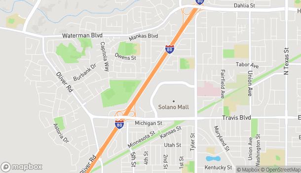 Map of 1570 Gateway Blvd in Fairfield