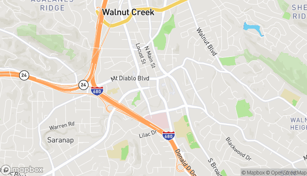 Mapa de 1521 Olympic Blvd en Walnut Creek