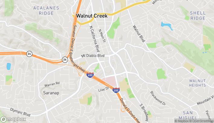 Map of 1521 Olympic Blvd in Walnut Creek