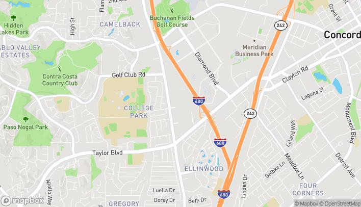 Mapa de 402 Sun Valley Mall en Concord
