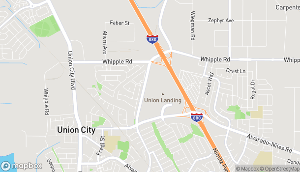 Mapa de 30870 Dyer St en Union City