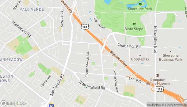 Map of 1040 N Rengstorff Ave in Mountain View